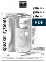 JOLLY5 Manual_ACTIVE_SPEAKER_JOLLY_5R_FBT