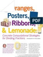 [23285486 - Mathematics Teaching in the Middle School] Oranges, Posters, Ribbons, and Lemonade_ Concrete Computational Strategies for Dividing Fractions.pdf