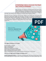 How Online Digital Marketing Course Can Assist You Shape Your Career in Marketing?