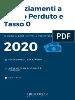 Guida Ai Finanziamenti Fondo Perduto e Tasso Zero_Blue Ocean Finance