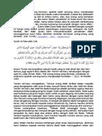 asbabun nuzul al-maidah 106-107
