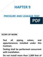 Pressure and Leakage test