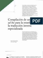 corpus. traduccion inversa