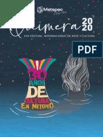 Programa Festival Quimera Metepec 2020