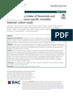 Habitual dietary intake of flavonoids