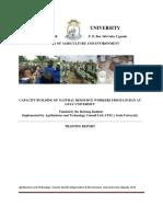 Crop training Report