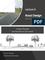 Lecture 6- Road cross section and detailed Horizontal Alignment