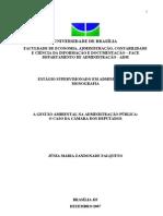 Junia Maria Z. Falqueto Gestao ambiental na adm pública UnB 2007