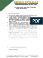 procedimiento complementario de fabricacion de carrocerias