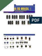 Quadro de Insígnias e Distintivos para Praças da Marinha do Brasil