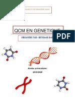 QCM GENETIQUE