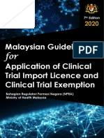 Malaysian Guideline for Application of Clinical Trial Import Licence & Clinical Trial Exemption, 7th Ed