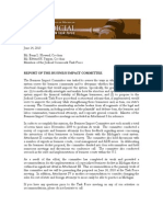State Bar of Michigan Judicial Crossroads Task Force BusIness Impact Committee Recommendations 2011