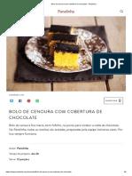 Bolo de cenoura com cobertura de chocolate - Panelinha