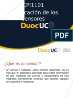 3.- Clasificación de sensores