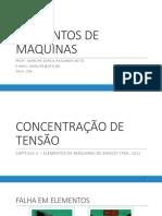 3 - CONCENTRAÇÃO DE TENSÃO