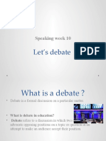 Let's debate - speaking activity week 10 BASIC 1B (1)