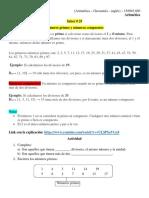 Aritmética inglés geometría