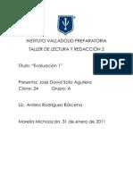 Evaluación 1 TLR