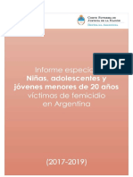 Informe femicidios 2020