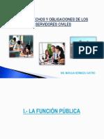 4 UNIDAD.- DERECHOS Y OBLIGACIONES DE LOS SERVIDORES CIVILES (1)