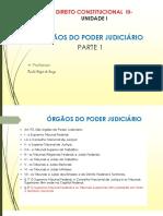 Direito Consttitucional III - ÓRGÃOS DO PODER JUDICIÁRIO- PARTE 1
