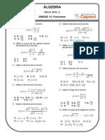 Practica de Funciones Unidad 14 ÁLGEBRA 2019 - C Ccesa007