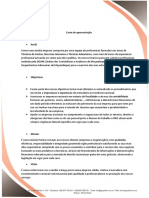 Carta de apresentação empresa