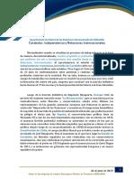 Carabobo  independencia y Relaciones Internacionales