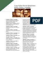 Oración de san Padre Pío de Pietrelcina