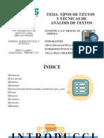 Tipos de Textos y Analisis de Textos