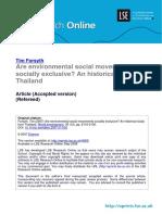 Environmental Social Movements Tim Forsyth