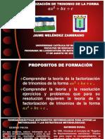 TRABAJO INDIVIDUAL DE MATEMÁTICAS FUNDAMENTALES DE SEPTIEMBRE DE 2020-II (FACTORIZACIÓN)