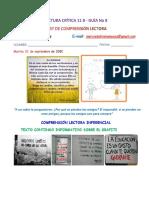 COMPRENSIÓN LECTORA 11B GUÍA 8
