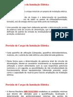 Previsão de Cargas_2018 da Instalação Elétrica