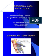 SINDROME TUNEL CARPIANO LESION MEDULAR