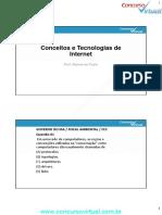 AULA 1 - CONCEITOS E TECNOLOGIAS DE INTERNET