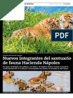 Nuevos integrantes del santuario de fauna Hacienda Nápoles