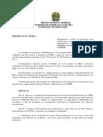 Resolução n° 25  2014 Afastamento Qualificação eCapacitação servidores Técnicos-Administrativos