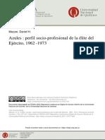 Azules, perfil socio-profesional de la élite del Ejérctio 1963-1973 - Mazzei