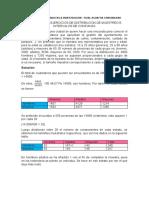 TRABAJO N° 05 EJERCICIOS DE DISTRIBUCION DE MUESTREO E INTERVALOS DE CONFIANZA