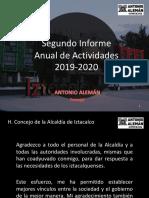 Antonio Alemán, Concejal de Iztacalco | 2° Informe de Actividades