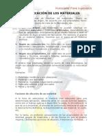 2-CLASIFICACIÓN DE LOS MATERIALES