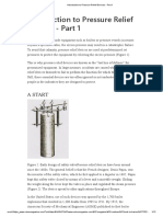 Back to Basics - Introduction to Pressure Relief Devices - Part 1