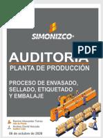 PORTADA DE AUDITORIA DE PLANTA DE PRODUCCIÓN envasado-fusionado