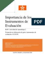 importancia de instrumentos de evaluacion