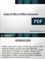 Scope of PSD to HTML 5