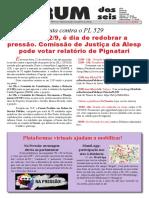 Boletim do Forum - Atividades contra o PL 529 em 22-9-2020