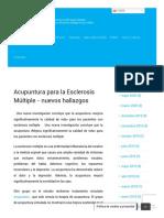 Acupuntura para la Esclerosis Múltiple - nuevos hallazgos - El Hogar.pdf