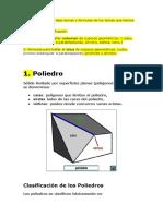 temas de poliedros, volomen y area de foguras tridimensionales